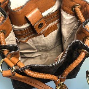 Michael Kors Bags - Michael Kors Monogram Braided Bucket Bag